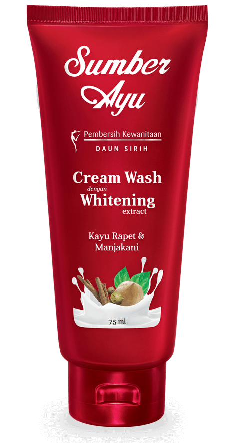 Cream Wash dengan Whitening Extract